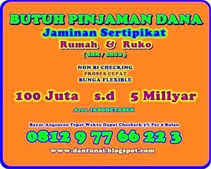 Foto: Pinjaman Dana Tunai Jaminan Sertifikat Rumah / Ruko