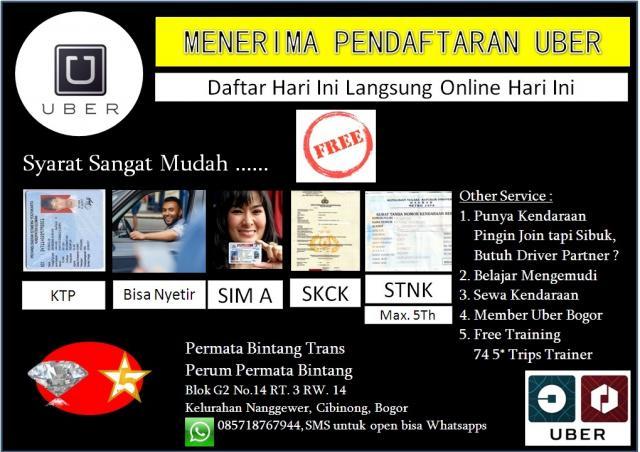 Foto: Pendaftaraan Uber Jakarta Raya
