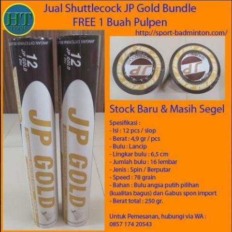 Foto: Jual Shuttlecock/Kok Bulutangkis Badminton JP Gold Bundle (2 Slop)